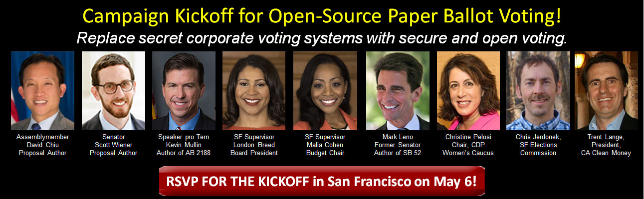 Open-Source Paper Ballot Voting Campaign Kickoff in San Francisco @ The Women's Building Auditorium | San Francisco | California | United States
