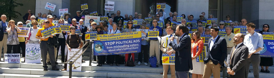 2017 Rally on the Capitol Steps Demanding a vote for the DISCLOSE Act